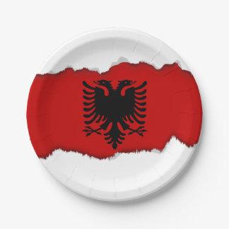 Flagge von Albanien Pappteller
