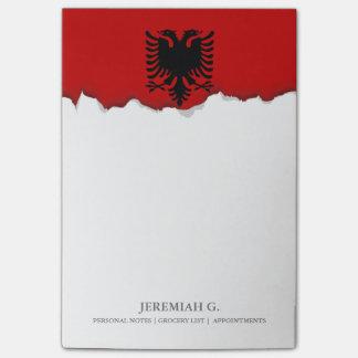 Flagge von Albanien Post-it Klebezettel