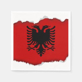 Flagge von Albanien Servietten