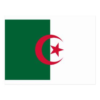 Flagge von Algerien Postkarte