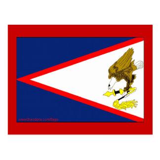 Flagge von American Samoa Postkarte