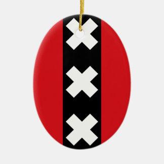 Flagge von Amsterdam Keramik Ornament