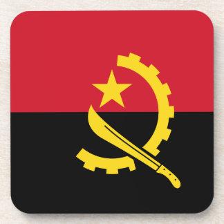 Flagge von Angola- - Bandeirade Angola Getränkeuntersetzer