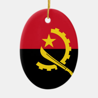 Flagge von Angola- - Bandeirade Angola Keramik Ornament