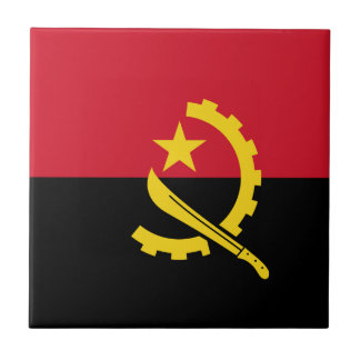 Flagge von Angola- - Bandeirade Angola Keramikfliese