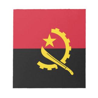Flagge von Angola- - Bandeirade Angola Notizblock