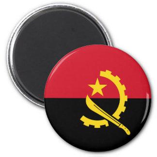 Flagge von Angola- - Bandeirade Angola Runder Magnet 5,7 Cm