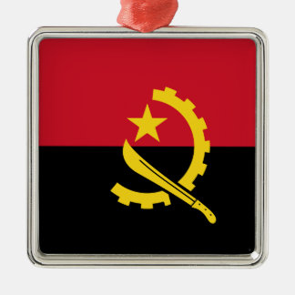Flagge von Angola- - Bandeirade Angola Silbernes Ornament