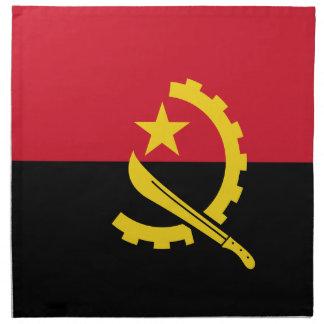 Flagge von Angola- - Bandeirade Angola Stoffserviette