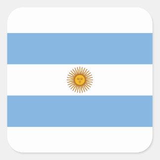 Flagge von Argentinien- - Banderade Argentinien Quadratischer Aufkleber