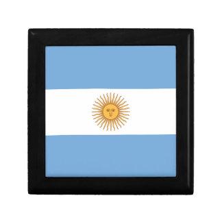 Flagge von Argentinien Kleine Quadratische Schatulle