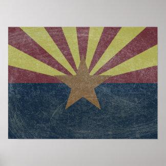 Flagge von Arizona Poster