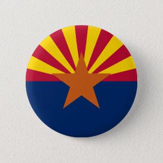 Flagge von Arizona Runder Button 5,7 Cm