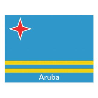 Flagge von Aruba Postkarte