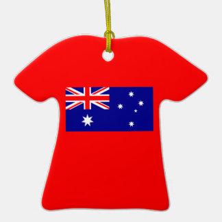 Flagge von Australien auf Keramik-T-Shirt Ornament