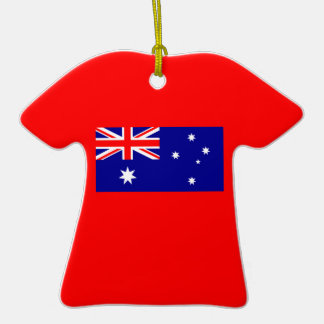 Flagge von Australien auf Keramik-T-Shirt Verzieru