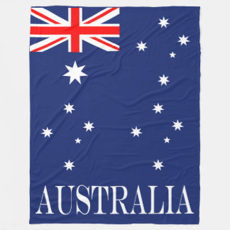 Flagge von Australien Fleecedecke
