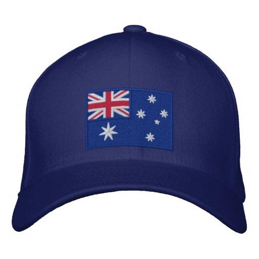 Flagge von Australien personalisiert Bestickte Kappen