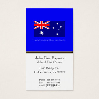 Flagge von Australien Visitenkarte