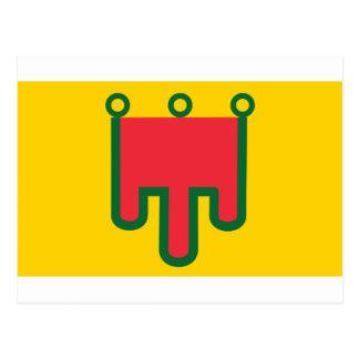 Flagge von Auvergne - Drapeau de la Région Postkarte