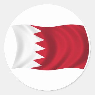 Flagge von Bahrain Runder Aufkleber