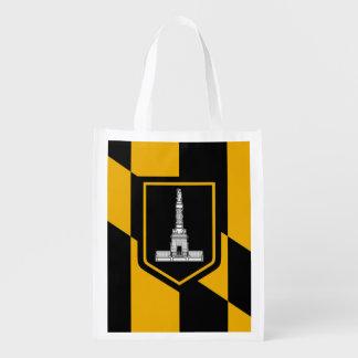 Flagge von Baltimore, Maryland Wiederverwendbare Einkaufstasche