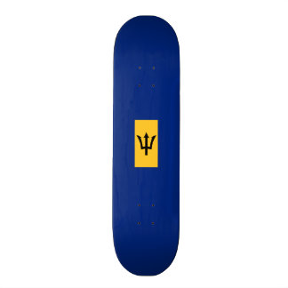 Flagge von Barbados-Skateboard Individuelles Skateboard