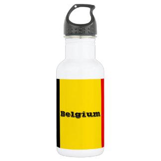 Flagge von Belgien Edelstahlflasche