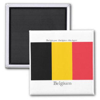 Flagge von Belgien-Magneten Quadratischer Magnet