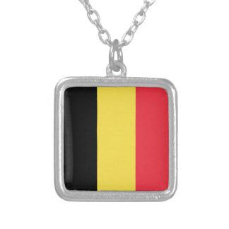 Flagge von Belgien Versilberte Kette
