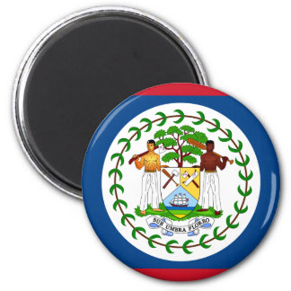 Flagge von Belize Runder Magnet 5,1 Cm