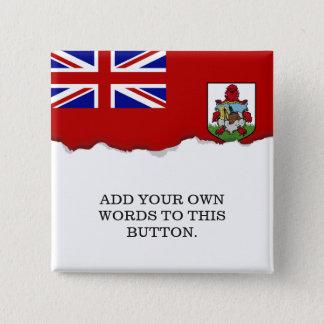 Flagge von Bermuda Quadratischer Button 5,1 Cm