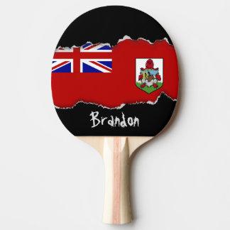 Flagge von Bermuda Tischtennis Schläger