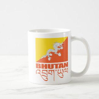 Flagge von Bhutan Kaffeetasse