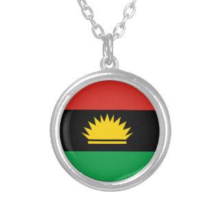 Flagge von Biafra (Bịafra) Halskette Mit Rundem Anhänger