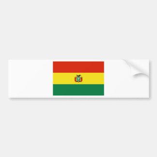 Flagge von Bolivien Autoaufkleber