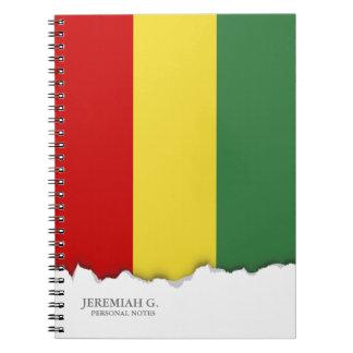 Flagge von Bolivien Spiral Notizblock