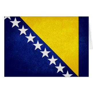 Flagge von Bosnien Mitteilungskarte