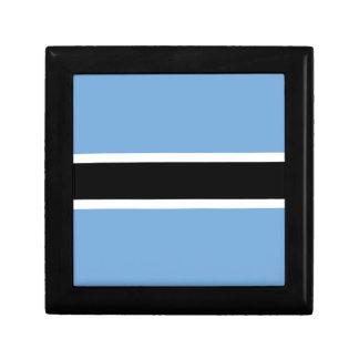 Flagge von Botswana - Folaga ya Botswana Schmuckschachtel