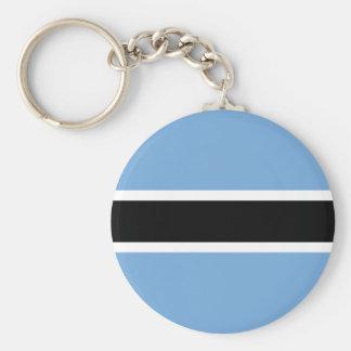 Flagge von Botswana Keychain Standard Runder Schlüsselanhänger