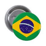 Flagge von Brasilien Anstecknadelbuttons