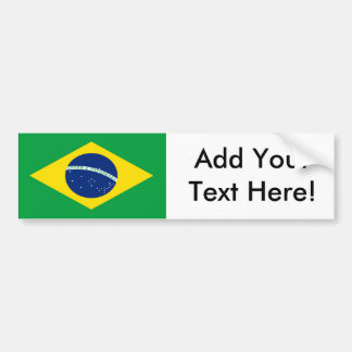 Flagge von Brasilien Autoaufkleber