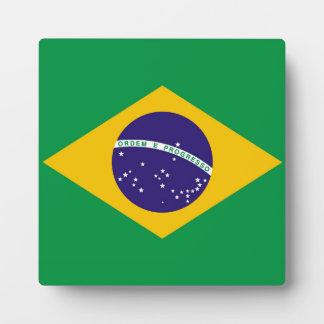 Flagge von Brasilien Bandeira tun Brasilien Fotoplatte