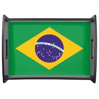Flagge von Brasilien Bandeira tun Brasilien Serviertablett