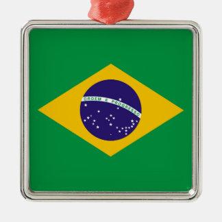 Flagge von Brasilien Bandeira tun Brasilien Silbernes Ornament