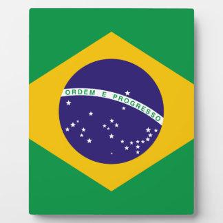 Flagge von Brasilien Fotoplatte