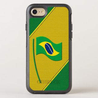 Flagge von Brasilien OtterBox Symmetry iPhone 7 Hülle