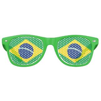 Flagge von Brasilien Partybrille