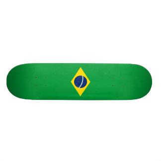 Flagge von Brasilien-Skateboard Individuelle Skateboarddecks