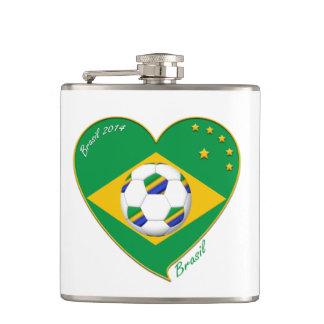 Flagge von BRASILIEN weltweiter FUSSBALL und Natio